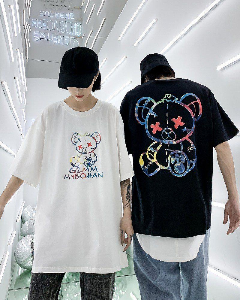 《2色》こてんぱんクマTシャツの画像1